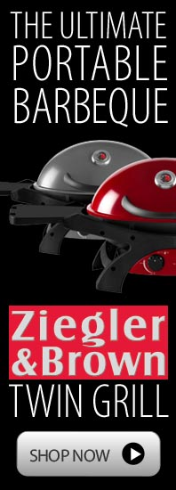 Ziegler and Brown portable BBQ - high power, quality and compact